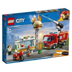 LEGO City Διάσωση Από Την Πυρκαγιά Στο Μπέργκερ Μπαρ - Burger Bar Fire Rescue 60214 5702016369267
