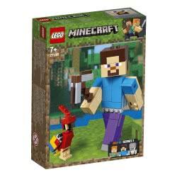 LEGO Minecraft Bigfig Στηβ Με Παπαγάλο - Steve Bigfig With Parrot 21148 5702016370560