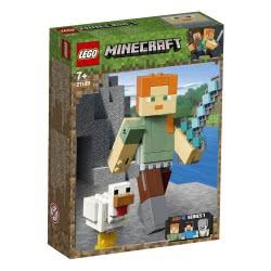 LEGO Minecraft Bigfig Αλεξ Με Κοτόπουλο - Minecraft Alex Bigfig With Chicken 21149 5702016370874