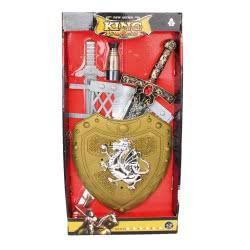 Toys-shop D.I Ασπίδα Με Σπαθιά Σετ Weapon Set JY026579 6990416265794