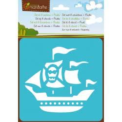 AVENUE mandarine Στένσιλ Σετ 6 Σχέδια Πειρατές 42448 3065500424487