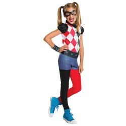 Rubies Carnaval Costume Harley Quinn DC Super Hero Girls Νο. S (3-4 Years) 620744S 883028147571
