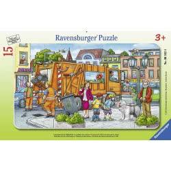 Ravensburger 15 Pcs Frame Puzzle Garbage Truck 6162 4005556061624