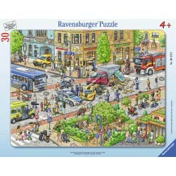 Ravensburger 30 pcs Frame Puzzle In the City 6172 4005556061723