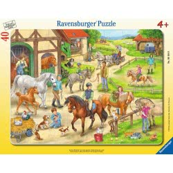Ravensburger Παζλ Καρτέλα 40 Τεμ. Φάρμα Αλόγων 6164 4005556061648