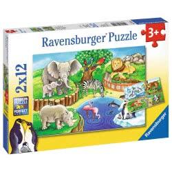 Ravensburger 2x12 pcs Puzzle Zoo 7602 4005556076024