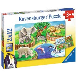 Ravensburger Παζλ 2x12 τεμ. Ζωολογικός Κήπος 7602 4005556076024