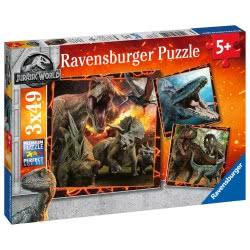 Ravensburger 3X49 Pcs Puzzle Jurassic Park 2 8054 4005556080540