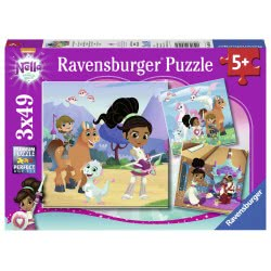 Ravensburger 3X49 Pcs Puzzle Nella, The Princess Knight 8056 4005556080564