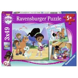 Ravensburger Παζλ 3X49 Τεμ. Νέλλα, Η Πριγκίπισσα Ιππότης 8056 4005556080564