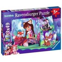 Ravensburger 3X49 Pcs Puzzle Enchantimals 8061 4005556080618