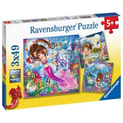 Ravensburger 3X49 Pcs Puzzle Mermaids 8063 4005556080632