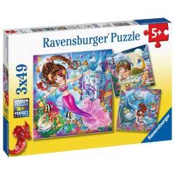 Ravensburger Παζλ 3X49 Τεμ. Γοργόνες 8063 4005556080632