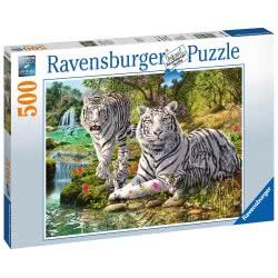 Ravensburger Παζλ 500 τεμ. Λευκές Τίγρεις 14793 4005556147939