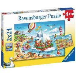 Ravensburger Παζλ 2X24 Τεμ. Διακοπές 7829 4005556078295