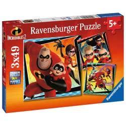 Ravensburger 3X49 Pcs Puzzle The Incredibles 8053 4005556080533