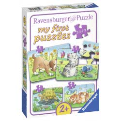 Ravensburger My First Puzzles 2/4/6/8 pcs Cute Pets 06951 400555069514