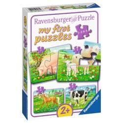 Ravensburger Τα Πρώτα μου Παζλ 2/4/6/8 τεμ. Αγαπημένα Ζωάκια 7077 4005556070770