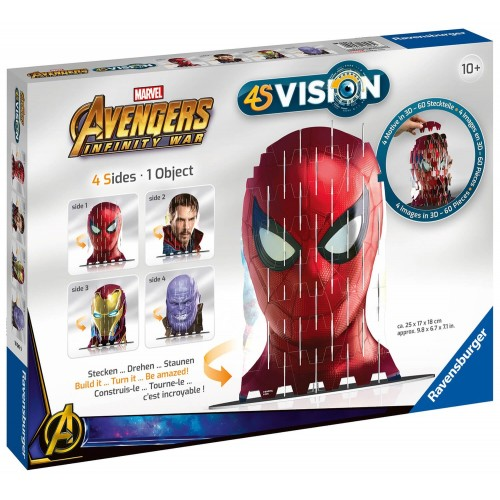 01092ae13b Ravensburger 60 pcs Puzzle 4S Vision Avengers Infinity War Iron Man and Co  18047 4005556180479