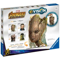 Ravensburger 60 Pcs Puzzle 4S Vision Avengers Infinity War Groot And Co 18048 4005556180486