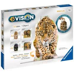 Ravensburger 60 Pcs Puzzle 4S Vision Wild Cats 18051 4005556180516