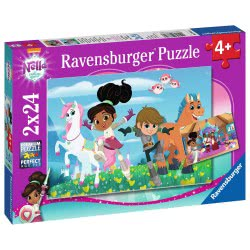 Ravensburger 2X24 Pcs Puzzle Nella, The Princess Knight 07831 4005556078318