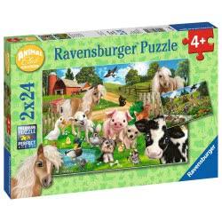 Ravensburger 2X24 Pcs Puzzle Cute Animals 07830 4005556078301