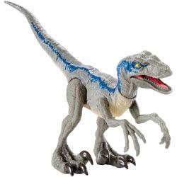 Mattel Jurassic World Βασική Φιγούρα Δεινόσαυρου Με Σπαστά Μέλη - Velociraptor Blue GCR54 / GCR55 887961733365