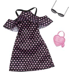 Mattel Barbie Fashion Βραδινά Σύνολα Dress with Hearts and Accessory FND47 / FXJ16 887961692327