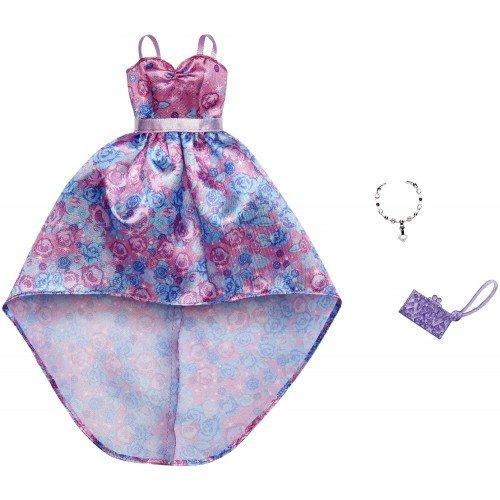 5ca00b25dca0 Mattel Barbie Fashion Βραδινά Σύνολα Pink Flower Dress and Accessory FND47    FXJ17 887961692310