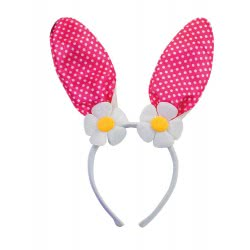 Fun Fashion Carnaval Cue Bunny with Daisies 80593 5204745805936