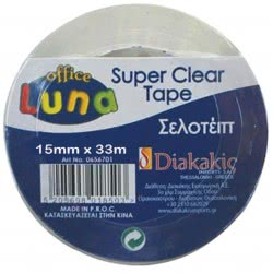 LUNA OFFICE Super Clear Tape 15 X 33Mm 656702 5205698018510