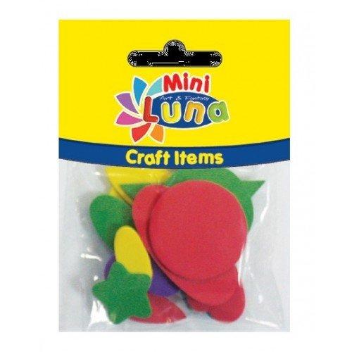 LUNA OFFICE Mini Luna Craft Items Fabric Shapes 15 Pieces 0620999 5205698130991