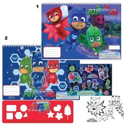 Diakakis imports PJ Masks Painting Blog 23X33 40 Sheets - 2 Designs 000484007 5205698235016