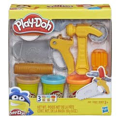 Hasbro Play-Doh Toolin Around Toy Tools Σετ 3 Πλαστοζυμαράκια E3342 / E3565 5010993554614