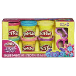 Hasbro Play-Doh Sparkle Compound Collection Πλαστοζυμαράκι Λαμπιρίζον A5417 5010993544325