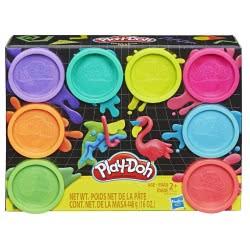 Hasbro Play-Doh Neon Μη Τοξικά Πλαστοζυμαράκια με 8 Χρώματα E5044 / E5063 5010993560189
