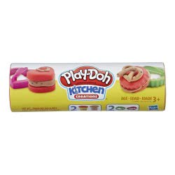 Hasbro Play-Doh Cookie Canister Play Food With 2 Colours (Chocolate Chip Cookie) E5100 / E5205 5010993560240