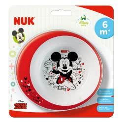 NUK Disney Mickey Μπολ Εκπαίδευσης Φαγητού 6m+ 80890771 3159921219989