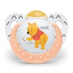 NUK Trendline Γουΐνι Το Αρκουδάκι Πιπίλα Σιλικόνης 6-18M - 3 Σχέδια 10736200 4008600286141