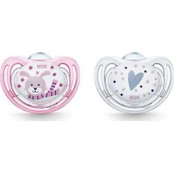 NUK Freestyle Winter Wonderland Silicone Soother 0-6M+ 2 Pack - 2 Designs 10730234 4008600309734