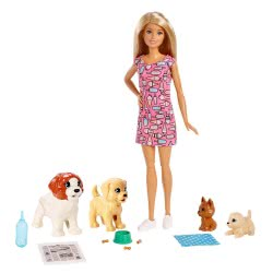 Mattel Barbie Doggy Daycare Doll And Pets FXH08 887961691290