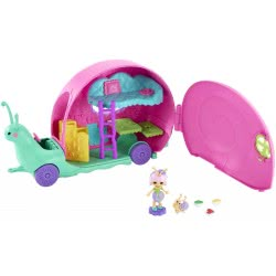Mattel Enchantimals Petal Park Slow-Mo Camper Vehicle Playset With Saxon Snail Doll GCT42 887961734119