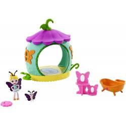 Mattel Enchantimals Petal Park - Ζουζουνάκια Φιλαράκια Σπιτάκι Μπάνιο Κουκούλι FXM96 / FXM97 887961695755
