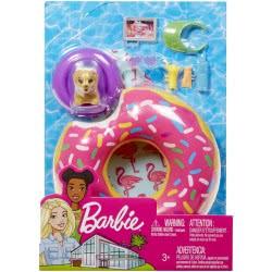 Mattel Barbie Έπιπλα Εξωτερικού Χώρου - Σετ Παραλίας με Σωσίβιο Ντονατς FXG37 / FXG38 887961690606