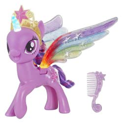 Hasbro My Little Pony Rainbow Wings Twilight Sparkle Pony Figure With Lights E2928 5010993553839
