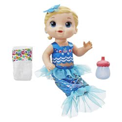 Hasbro Baby Alive Shimmer And Splash Mermaid Ξανθό Μωράκι Γοργόνα E3693 5010993548293