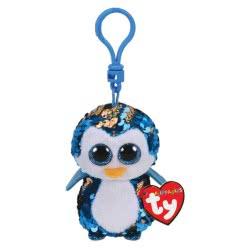 ty Flippables Plush Clip Sequin Penguin Blue 8,5 Cm 1607-35302 008421353026