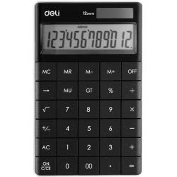 DELI Calculator 12 Digits 16,53x10,32x1,47cm - Black 231.1589b 6921734925633