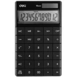 DELI Calculator 12 Digits 16,53x10,32x1,47cm - Black 231.1589b 6921734925633